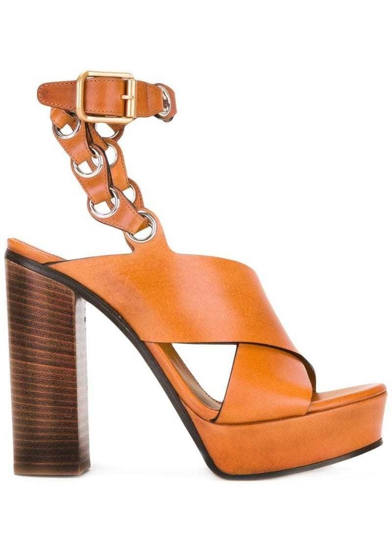 Chloé chain strap platform sandals