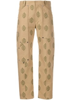 Chloé jacquard cropped cargo trousers