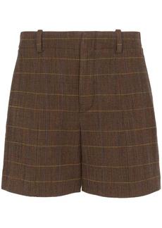 Chloé check weave shorts