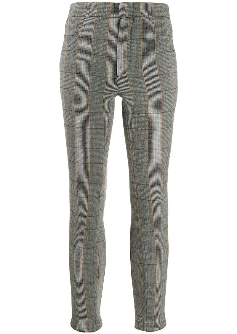 Chloé checked cropped leggings