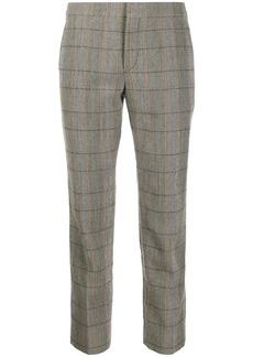 Chloé checked cropped trousers