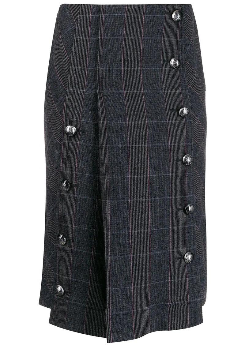 Chloé checked pleated skirt