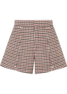 Chloé Checked Wool-blend Shorts