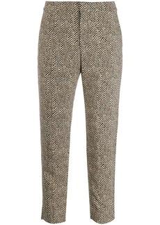 Chloé chevron cropped trousers