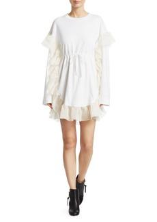 Chloé Chiffon Ruffle T-Shirt Dress