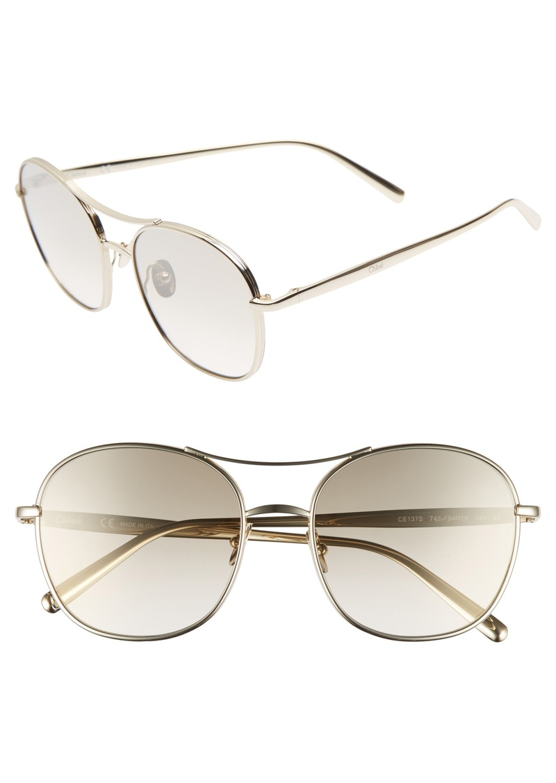 Chloé 54mm Aviator Sunglasses