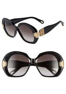Chloé 54mm Oval Sunglasses