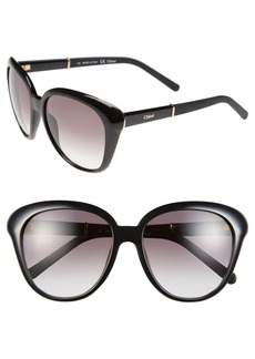 Chloé 55mm Cat Eye Sunglasses