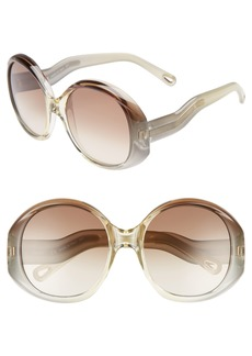 Chloé 57mm Gradient Sunglasses