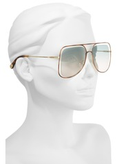 Chloé 57mm Halo Frame Aviator Sunglasses