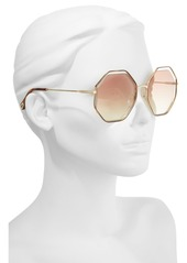 Chloé 58mm Octagonal Halo Lens Sunglasses