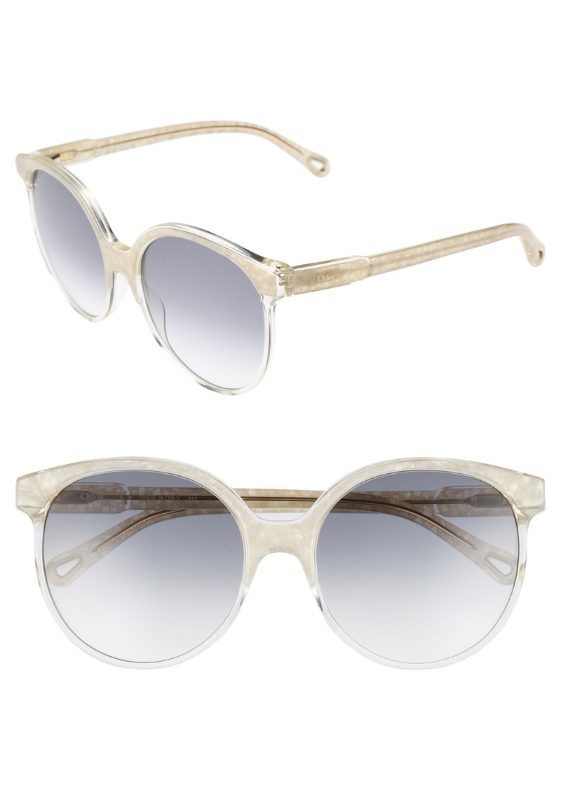 Chloé 59mm Round Sunglasses