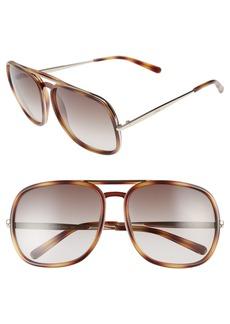 Chloé 60mm Gradient Lens Navigator Sunglasses
