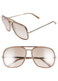 Chloé 60mm Gradient Lens Navigator Sunglasses