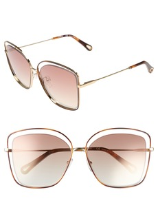 Chloé 60mm Halo Frame Sunglasses