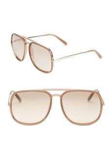 60MM Oversize Square Sunglasses