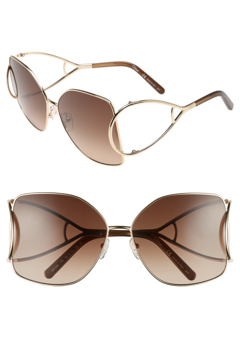 Chloé 63mm Wrapover Frame Sunglasses