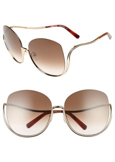 Chloé 64mm Oversize Sunglasses