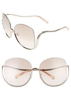 Chloé 64mm Oversize Sunglasses