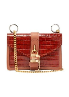 Chloé Aby crocodile-embossed leather shoulder bag
