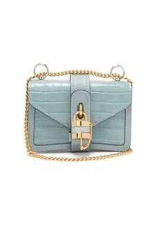 Chloé Aby mini crocodile-embossed leather shoulder bag