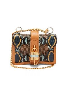 Chloé Aby mini python-effect leather shoulder bag