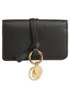 Chloé Alphabet Leather Foldover Card Case