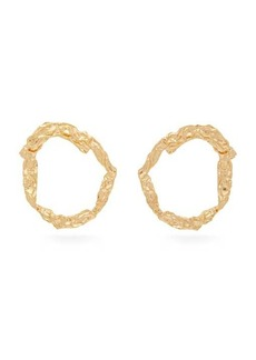 Chloé Anouck crinkled gold-tone hoop earrings