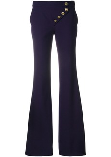 Chloé asymmetric flared trousers - Pink & Purple