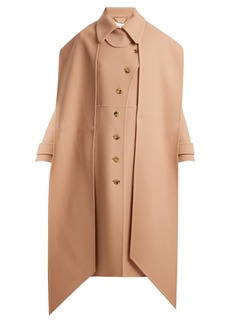 Chloé Asymmetric wool and cashmere coat