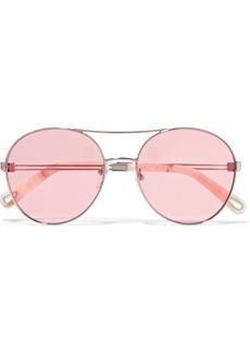 Chloé Aviator-style gold-tone sunglasses