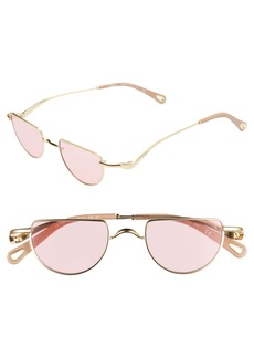 Chloé Ayla 45mm Half Circle Sunglasses