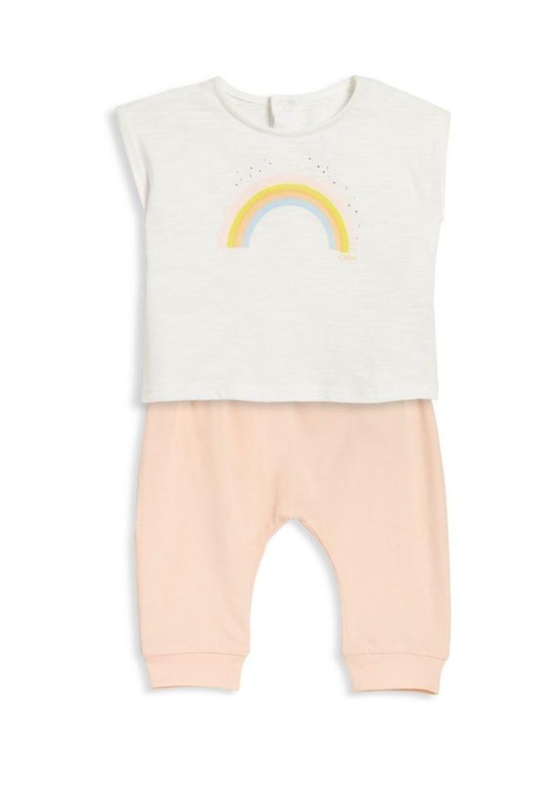 Chloé Baby's Two-Piece Rainbow Tee & Leggings Set