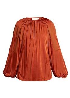 Chloé Balloon-sleeve satin top