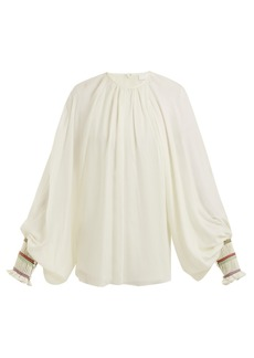 Chloé Balloon-sleeve silk-georgette blouse