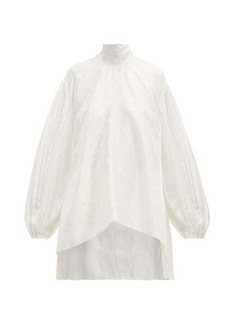 Chloé Baroque C-jacquard silk blouse