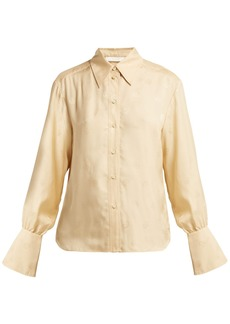 Chloé Baroque logo-jacquard blouse