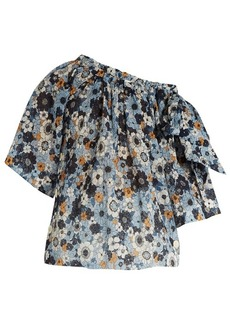 Chloé Bell-sleeved floral-print top