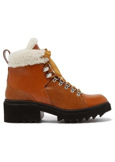 Chloé Bella shearling-lined leather boots