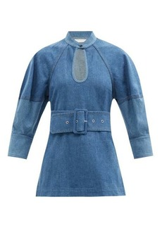 Chloé Belted two-tone denim top