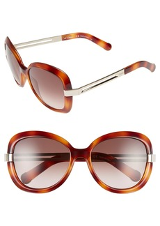 Chloé 'Bianca' 57mm Oversized Sunglasses