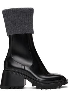 Chloé Black & Grey Betty Rain Boots