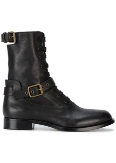 Chloé Black Otto Leather lace up boots