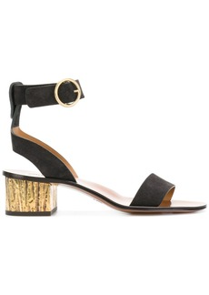 Chloé block heeled sandals - Black