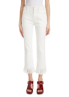 Chloé Bootcut Fringe Crop Jeans