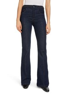 Chloé Braided Waist Flare Jeans