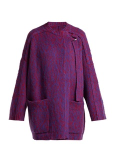 Chloé Brushed wool and cashmere-blend cardigan