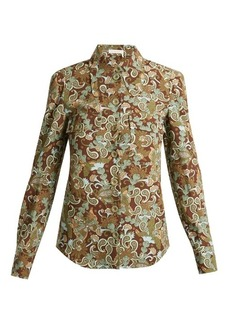 Chloé Butterfly Garden Party-print crepe blouse