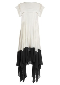 Chloé Butterfly-hem crepe dress