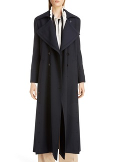 Chloé Button Detail Long Trench Coat
